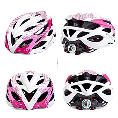 XiangYu Bike Helmet with Visor LED Taillight Insect Net Padded Road Mountain Bike Cycling Helmet Lightweight Cycle Bicycle Helmets for Adult Men and Women by XiangYu