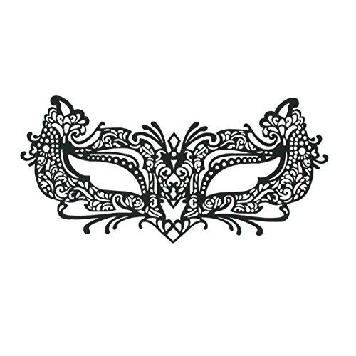 SiaLinda: Maske selbstklebend, verschieden Modelle, Maske für Brillenträger. Venezianische Maske zum abziehen. Sehr angenehm zu tragen. Mehrfach - Günstige Clubwear Kostüm