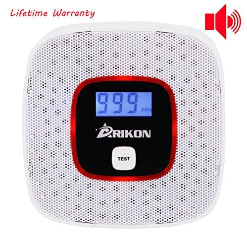 ARIKON Détecteur de monoxyde de carbone High Sensitive Human Voice Prompt Rétro-éclairage LCD numérique CO 85dB Détecteur d'alarme Tester Alarme de capteur de gaz CO pour la sécurité à la maison
