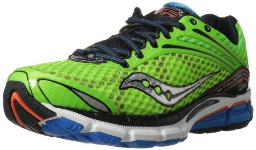 Hombre Triumph 11 Running Shoe, Slime / Naranja / Azul, 7 M US
