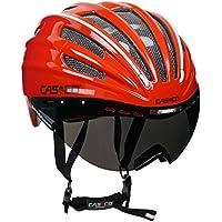Casco de carreras casco de bicicleta para triatlón Casco Casco Speed Airo con visera–Edición Especial En Una Edición Limitada–En los colores azul o rojo–para un tamaño de la cabeza de 54–59cm, mujer, rojo / blanco