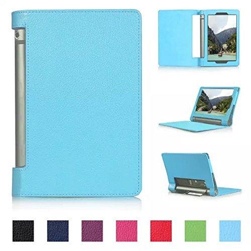 Tsmine Lenovo Yoga Tab 3 10 Tablet Flip Hülle - Premium Slim Magnetische Smart Cover Folio Schutz PU Ledertasche Ständer für Lenovo Yoga Tab 3 10.1 (NICHT Fit Yoga Tab 3 Pro 10), Hellblau