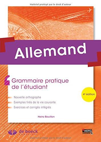 Allemand : Grammaire pratique de l'tudiant
