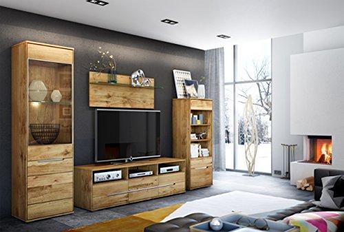 TV-Kommode Lowboard Wildeiche Massiv Slimline mit durchgehenden Lamellen 2998 exsopo - 2