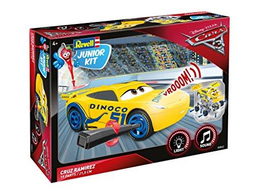Cruz Ramirez von Revell Junior Kit - Disney Cars 3 - cooler Bausatz für Kinder ab 4 Jahren zum Schrauben, Basteln und Spielen, robust, mit Light & Sound Effekten - 00862