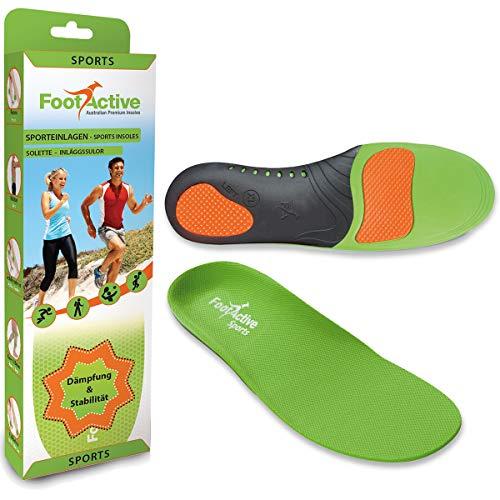 FootActive SPORT - Einlegesohlen für Sport, Freizeit und Beruf - 44-45 (L)