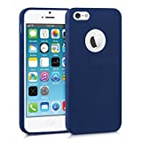 kwmobile Apple iPhone SE / 5 / 5S Hülle - Handyhülle für Apple iPhone SE / 5 / 5S - Handy Case in Dunkelblau matt