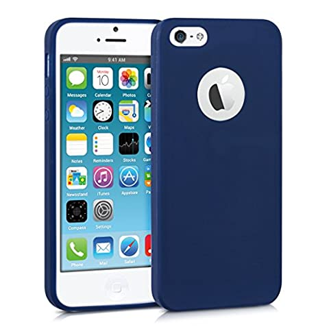 kwmobile Hülle für Apple iPhone SE / 5 / 5S - TPU Silikon Backcover Case Handy Schutzhülle - Cover Dunkelblau