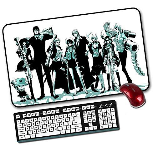 ZYAM Erweitertes Mousepad (35 × 60 cm) Einteiliges Mousepad Schreibtisch-Pad, optimales Gleiten, Rutschfester Gummiboden, zackiger Rand-Mauspad-Gummi für PC, Computer und Laptop-4 -