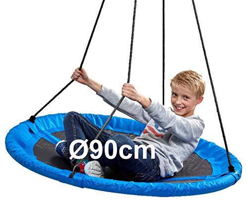 Izzy Nestschaukel 110 cm, Garten-Schaukel bis 150 kg belastbar, TÜV/GS (90cm Nestschaukel - blau - 150kg)