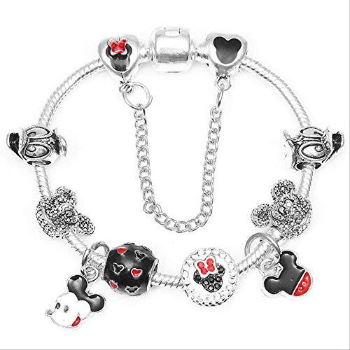 KHQM armband armband und armband klassische silber liebeswürfel charme armband frauen metall mesh hohl kette schmuck weihnachtsgeschenk