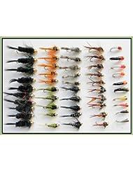 50oro cabeza Trout pesca moscas, Ninfa y zumbador varios tamaños, buen invierno elección