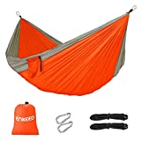 Enkeeo Portable Double Hammock for Camping Backpacking Hiking - Best Reviews Guide