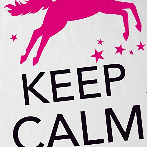 style3 Keep Calm and be a Unicorn Herren Tank Top Einhorn Weiß