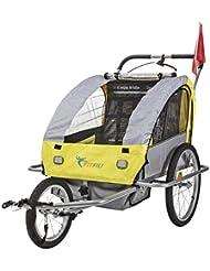Fitfiu BI-TR-Y - Remolque de bicicleta, color amarillo / gris