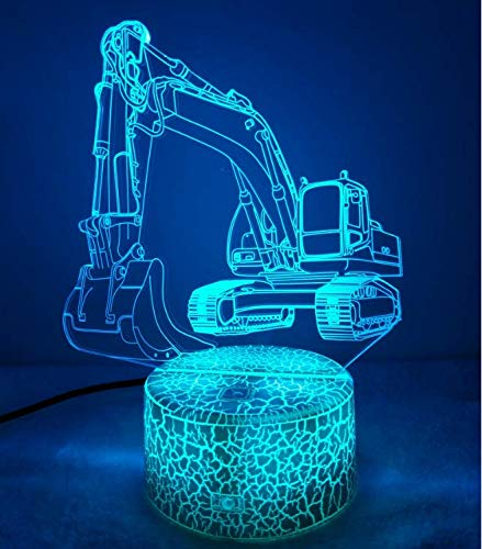 3D Bagger Lampe USB Power 7 Farben Amazing Optical Illusion 3D wachsen LED Lampe Formen Kinder Schlafzimmer Nacht Licht【7 bis 15 tage in Deutschland angekommen】
