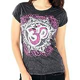 Yoga Tees - Omtimistic mujer hindú símbolo de OM Camiseta X-Large