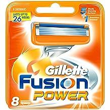 Gillette Fusion Power - Recambio de maquinilla de afeitar para hombre - 8 unidades