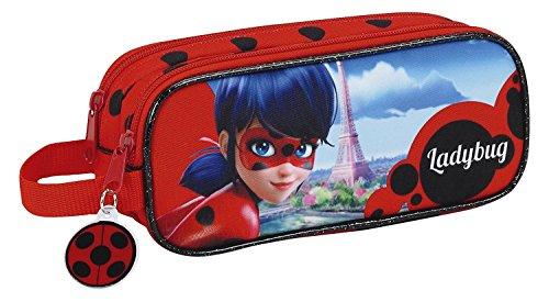 Estuche escolar Miraculous Ladybug Marinette doble compartimentos 2017