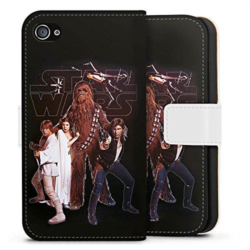 Apple iPhone X Silikon Hülle Case Schutzhülle Star Wars Merchandise Fanartikel Rebellen Armee Sideflip Tasche weiß