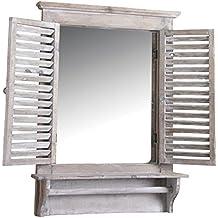 Espejo ventana aubry gaspard - Espejos decorativos amazon ...