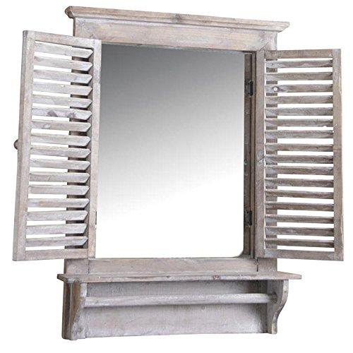 Espejo-ventana-de-madera-tintada-con-Tablet-estante