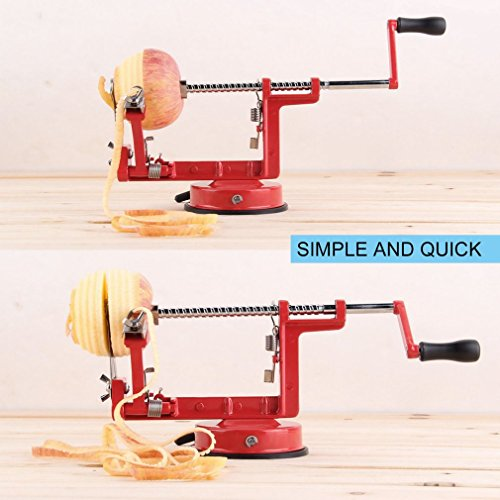 Hemore 3-in-1 Apfelschäler/Entkerner / Obstschneider/Küchenwerkzeug