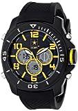 Wrist Armor Men's 37200007 C24 Analog-Digital Display Quartz Watch with Black Silicone Strap