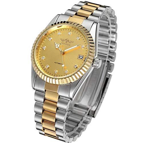 Smartwatches,Vollautomatische Mechanische Hohle Stahlband Armbanduhr Aus Gold Business Watch Goldring Mit Goldring Zwischen Den Goldoberflächen