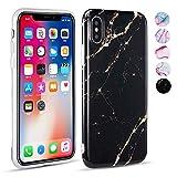 UEEBAI Coque Souple en TPU Souple pour iPhone avec Paillettes et Motif marbre iPhone...