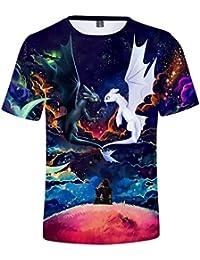 953040f6f298d CIZEU Krokmou 3D Impression T-Shirt Bébé Enfant à Manches Courtes Dragon ...
