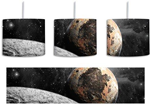 Alien Planeten im Weltall B&W Detail inkl. Lampenfassung E27, Lampe mit Motivdruck, tolle Deckenlampe, Hängelampe, Pendelleuchte - Durchmesser 30cm -...