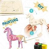 ROBOTIME Giocattoli Dinosauro - Puzzle in legno 3D - T-rex Assemblaggio Vernice Modello per Bambini (Unicorn)