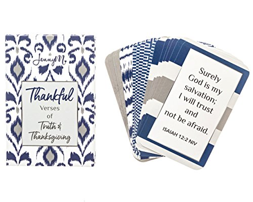 jennym   dankbar Verse der Wahrheit und Thanksgiving Bibel Verse inspirierendes Gebet Karten,-Vers der der Tag Schrift Cards Erinnerungsschachtel für mit, Box Inspirierende Segen Karten