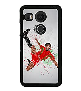 PrintVisa Bubble Football Player High Glossy Designer Back Case Cover for LG Nexus 5X :: LG Google Nexus 5X New