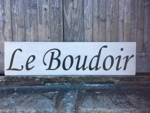 Eyrrme Le Boudoir Schilder für Schlafzimmer, Türschilder, Schlafzimmer, Wanddekoration, französisches Schlafzimmerschild, für Damen und Schlafzimmer, rustikale Holzschilder - Französisch Boudoir