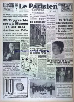 PARISIEN LIBERE EDITION DE PARIS (LE) [No 1753] du 04/05/1950