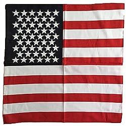 OutdoorVida American US USA Flag Print Patriotic Bandana Handkerchief Head Wrap Headband for Women Men Children Dog Pack of 6 by OutdoorVida