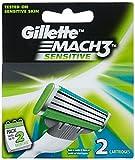 Gillette Mach 3 Sensitive Cartridges - Pack of 2