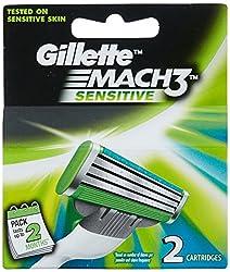 Gillette Mach3 Sensitive Refill - 2 Count
