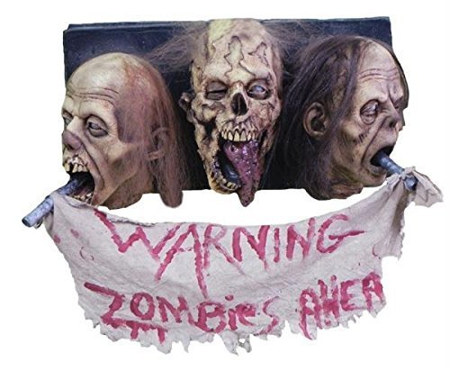Zombie Wall Plaque 3 Faced by Morris -