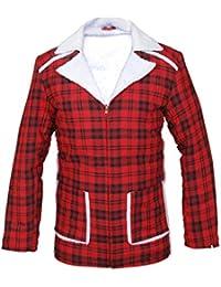 F&H Mens Deadpool Ryan Reynolds Shearling Lined Synthetic Fur Coat