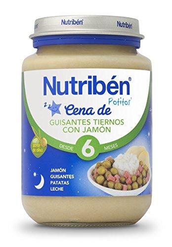 Nutriben Cena Crema Guisantes con Jamon Potito  - 200 gr