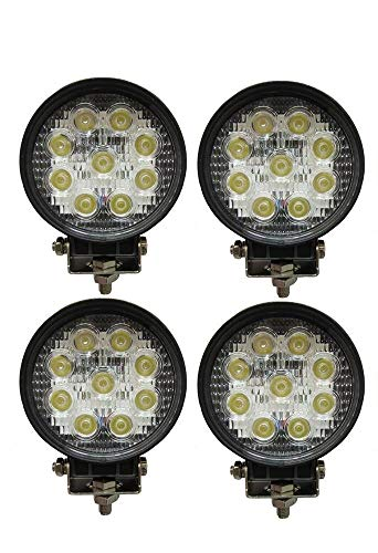 4 x Foco 27 W redondo foco LED de trabajo 9 led...