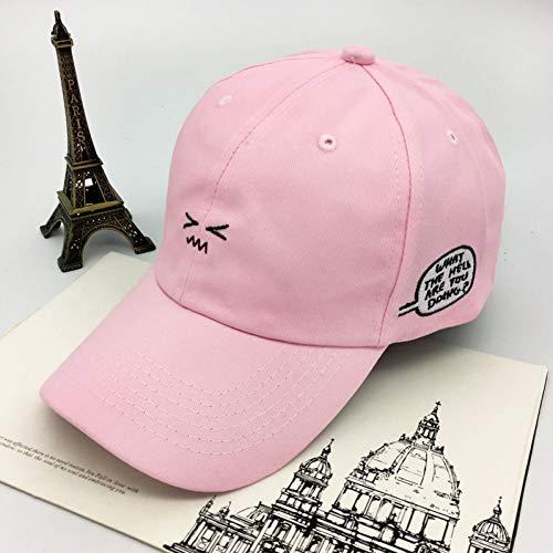YPORE Hutkappe-Studentenkappe Der Weiblichen Einfachen Stickerei des Hutes Beiläufige Paare Der Wilden Baseballmütze Beiläufige