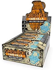 Grenade Carb Killa High Protein and Low Carb Bar, White Chocolate Cookie, 12 x 60 g