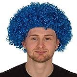 REDSTAR FANCY DRESS Erwachsene Lockig Afro Perücke Multifarben Party Clown Perücken Kostüm Zubehör - Blau, One Size