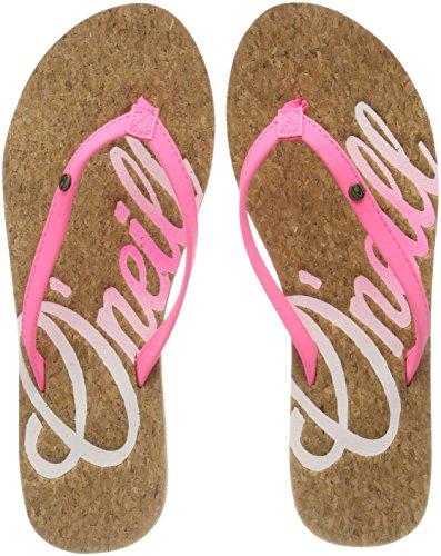 O'Neill Damen FW Logo Cork Flip Flops Zehentrenner, Pink (4091 Shocking Pink), 39 EU