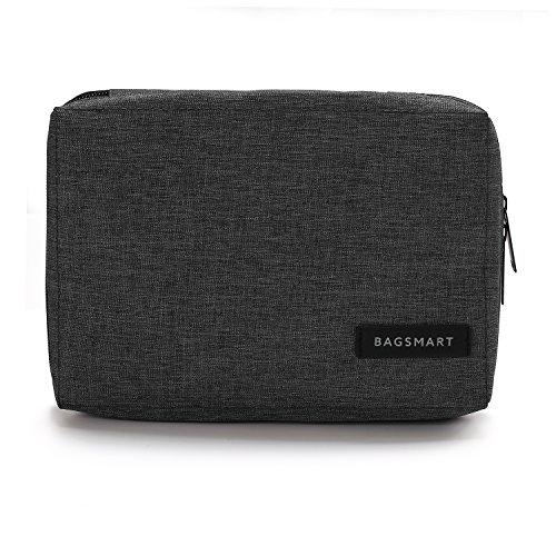 BAGSMART Elektronische Tasche, Elektronik Organizer Reise für Handy Ladekabel, Powerbank, USB Sticks, SD Karten (Schwarz) Kamera Case Bag Pouch