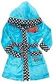 Disney Cars Bademantel Kimono Gürtel Kapuze Morgenmantel Speed blau (122)